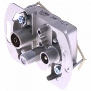 Simon Classic ZAR-SAT1.3/1 - Mechanizm gniazda antenowego RTV-SAT końcowego 1,5db - Podgląd zdjęcia 360st. nr 7