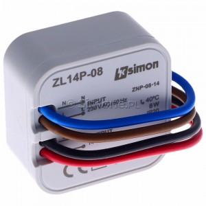 Simon 54 ZL14P-08 - Zasilacz LED dopuszkowy 14V, DC, 8W - Podgląd zdjęcia 360st. nr 1