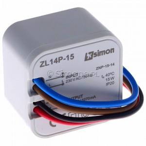Simon 54 ZL14P-15 - Zasilacz LED dopuszkowy 14V, DC, 15W - Podgląd zdjęcia 360st. nr 1