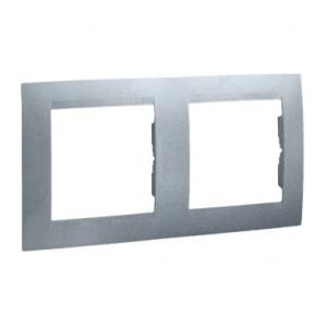 Simon 15 1501620-026 - Ramka podwójna - Aluminium - Podgląd zdjęcia nr 1