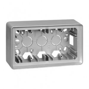Simon 82 8200760-093 - Puszka natynkowa 2-krotna  aluminium - Podgląd zdjęcia nr 1