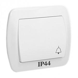 Simon Akord AD1B/11 - Przycisk zwierny dzwonek hermetyczny - Biały - Podgląd zdjęcia nr 1