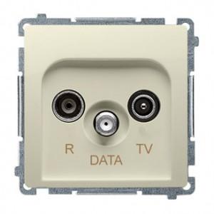 Simon Basic BMAD.01/12 - Gniazdo antenowe R-TV-DATA - Beżowy - Podgląd zdjęcia nr 1