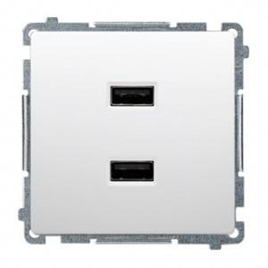 Simon Basic BMC2USB.01/11 - Podwójna ładowarka USB - Biały - Podgląd zdjęcia nr 1