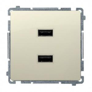 Simon Basic BMC2USB.01/12 - Podwójna ładowarka USB - Beżowy - Podgląd zdjęcia nr 1