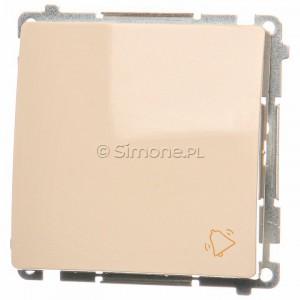 Simon Basic BMD1.01/12 - Przycisk zwierny dzwonek 10A - Beżowy - Podgląd zdjęcia nr 1