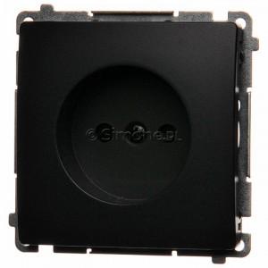 Simon Basic BMG1z.01/28 - Gniazdo pojedyncze bez bolca uziemiającego z przesłonami torów prądowych - Grafit Mat. - Podgląd zdjęcia nr 1