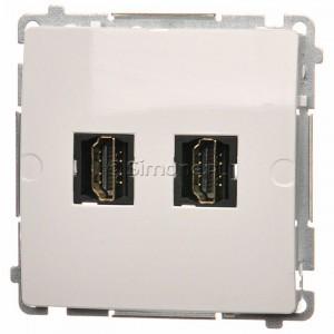 Simon Basic BMGHDMI2.01/11 - Gniazdo HDMI podwójne - Biały - Podgląd zdjęcia nr 1