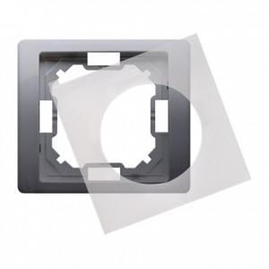 Simon Basic BMRC1B/21 - Ramka pojedyncza hermetyczna Neos - Stal Inox - Podgląd zdjęcia nr 1