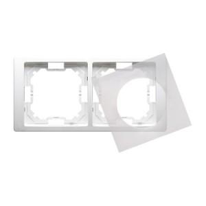 Simon Basic BMRC2B/11 - Ramka podwójna hermetyczna Neos - Biały - Podgląd zdjęcia nr 1