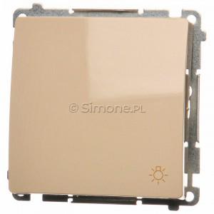 Simon Basic BMS1.01/12 - Przycisk zwierny światło 10A - Beżowy - Podgląd zdjęcia nr 1