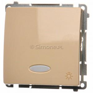 Simon Basic BMS1L24V.01/12 - Przycisk zwierny światło z podświetleniem na 24V typu LED w kolorze niebieskim - Beżowy - Podgląd zdjęcia nr 1