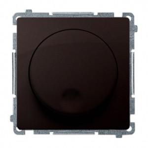 Simon Basic BMS9T.01/47 - Ściemniacz naciskowo-obrotowy 20-500W - Czekoladowy - Podgląd zdjęcia nr 1