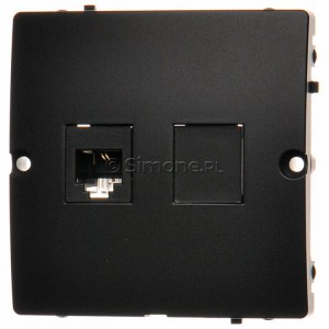 Simon Basic BMTF1.02/28 - Gniazdo telefoniczne RJ11 pojedyncze - Grafit Mat. - Podgląd zdjęcia nr 1