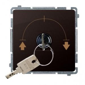 Simon Basic BMWZK.01/47 - Łącznik żaluzjowy na kluczyk 3 pozycyjny I-0-II - Czekoladowy - Podgląd zdjęcia nr 1