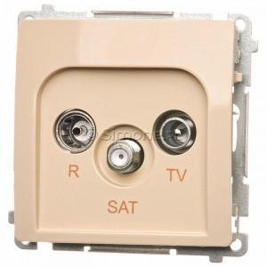 Simon Basic BMZAR-SAT10/P.01/12 - Gniazdo antenowe RTV-SAT przelotowe - Beżowy - Podgląd zdjęcia nr 1