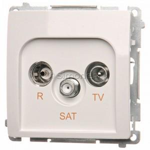 Simon Basic BMZAR-SAT1.3/1.01/11 - Gniazdo antenowe RTV-SAT końcowe lub zakończeniowe w szeregu gniazd przelotowych - Biały - Podgląd zdjęcia nr 1