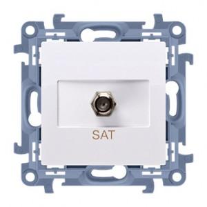 Simon 10 CASF1.01/11 - Gniazdo antenowe SAT pojedyncze - Biały - Podgląd zdjęcia nr 1