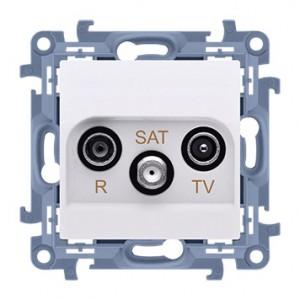 Simon 10 CASK.01/11 - Gniazdo antenowe R-TV-SAT końcowe/zakończeniowe - Biały - Podgląd zdjęcia nr 1