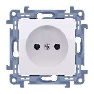 Simon 10 CG1.01/11 - Gniazdo wtyczkowe pojedyncze bez uziemienia 16A - Biały - Podgląd zdjęcia nr 1