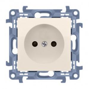 Simon 10 CG1.01/41 - Gniazdo wtyczkowe pojedyncze bez uziemienia 16A - Kremowy - Podgląd zdjęcia nr 1