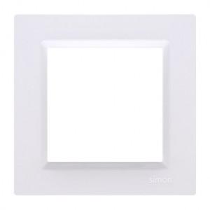 Simon 10 CR1/11 - Ramka pojedyncza - Biały - Podgląd zdjęcia nr 1