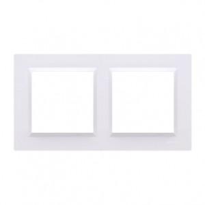 Simon 10 CR2/11 - Ramka podwójna - Biały - Podgląd zdjęcia nr 1