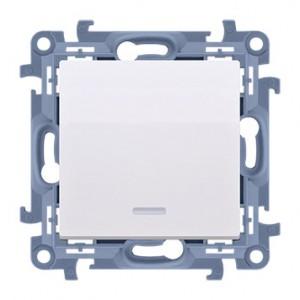 Simon 10 CW1L.01/11 - Łącznik pojedynczy z podświetleniem LED 10A - Biały - Podgląd zdjęcia nr 1