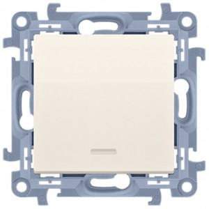 Simon 10 CW1L.01/41 - Łącznik pojedynczy z podświetleniem LED 10A - Kremowy - Podgląd zdjęcia nr 1