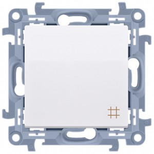 Simon 10 CW7.01/11 - Łącznik krzyżowy 10A - Biały - Podgląd zdjęcia nr 1
