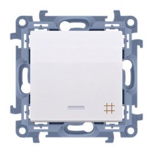 Simon 10 CW7L.01/11 - Łącznik krzyżowy z podświetleniem LED 10A - Biały - Podgląd zdjęcia nr 1