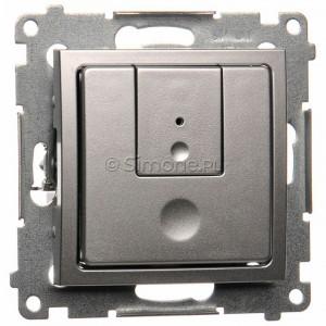 Simon 54 D75310.01/43 - Ściemniacz dwu przyciskowy 40-500W - Srebrny Mat - Podgląd zdjęcia nr 1