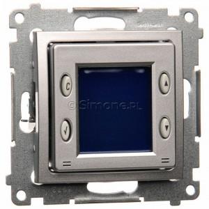 Simon 54 D75817.01/43 - Termostat elektroniczny z programatorem tygodniowym, wyświetlaczem LCD i wewnętrznym czujnikiem temperatury - Srebrny Mat - Podgląd zdjęcia nr 1