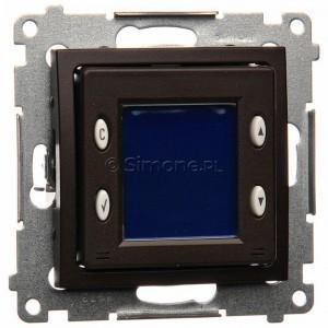 Simon 54 D75817.01/46 - Termostat elektroniczny z programatorem tygodniowym, wyświetlaczem LCD i wewnętrznym czujnikiem temperatury - Brąz Mat - Podgląd zdjęcia nr 1