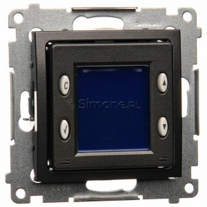 Simon 54 D75817.01/48 - Termostat elektroniczny z programatorem tygodniowym, wyświetlaczem LCD i wewnętrznym czujnikiem temperatury - Antracyt - Podgląd zdjęcia nr 1