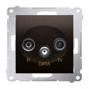 Simon 54 DAD.01/46 - Gniazdo R-TV-DATA (pod internet kablowy) - Brąz Mat - Podgląd zdjęcia nr 1