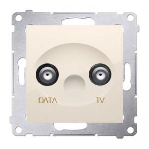 Simon 54 DAD1.01/41 - Gniazdo TV-DATA (pod internet kablowy) - Kremowy - Podgląd zdjęcia nr 1