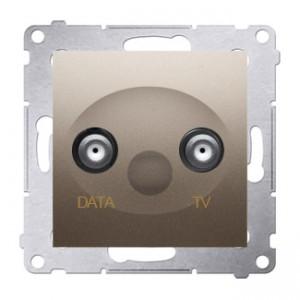 Simon 54 DAD1.01/44 - Gniazdo TV-DATA (pod internet kablowy) - Złoty Mat - Podgląd zdjęcia nr 1