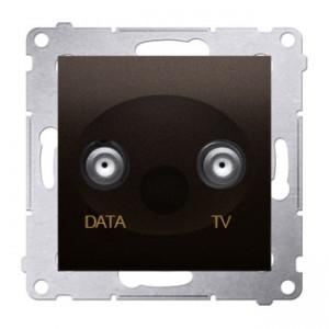 Simon 54 DAD1.01/46 - Gniazdo TV-DATA (pod internet kablowy) - Brąz Mat - Podgląd zdjęcia nr 1