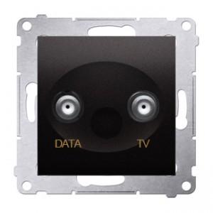 Simon 54 DAD1.01/48 - Gniazdo TV-DATA (pod internet kablowy) - Antracyt - Podgląd zdjęcia nr 1