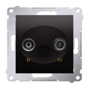 Simon 54 DAK.01/48 - Gniazdo antenowe R-TV końcowe separowane - Antracyt - Podgląd zdjęcia nr 1