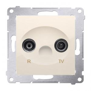 Simon 54 DAP10.01/41 - Gniazdo antenowe R-TV przelotowe 10dB - Kremowy - Podgląd zdjęcia nr 1
