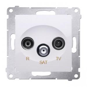 Simon 54 DASP.01/11 - Gniazdo antenowe R-TV-SAT przelotowe - Biały - Podgląd zdjęcia nr 1
