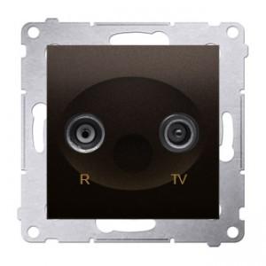 Simon 54 DAZ.01/46 - Gniazdo antenowe R-TV zakończeniowe do gniazd przelotowych - Brąz Mat - Podgląd zdjęcia nr 1