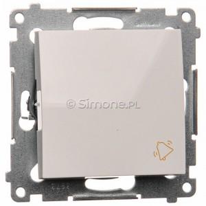 Simon 54 DD1.01/11 - Przycisk dzwonkowy 10A - Biały - Podgląd zdjęcia nr 1
