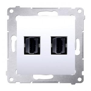 Simon 54 DGHDMI2.01/11 - Gniazdo HDMI podwójne - Biały - Podgląd zdjęcia nr 1