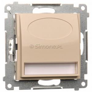 Simon 54 DOS.01/41 - Oprawa oświetleniowa LED 230V (1,1W), Barwa światła: Biały ciepły 3100K. - Kremowy - Podgląd zdjęcia nr 1