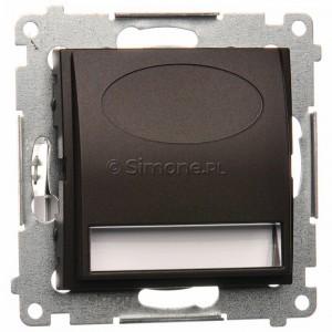 Simon 54 DOS.01/46 - Oprawa oświetleniowa LED 230V (1,1W), Barwa światła: Biały ciepły 3100K. - Brąz Mat - Podgląd zdjęcia nr 1