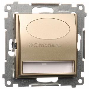 Simon 54 DOS14.01/44 - Oprawa oświetleniowa LED 14V (0,42W), Barwa światła: Biały ciepły 3100K. Wymagany zasilacz 14V. - Złoty Mat - Podgląd zdjęcia nr 1