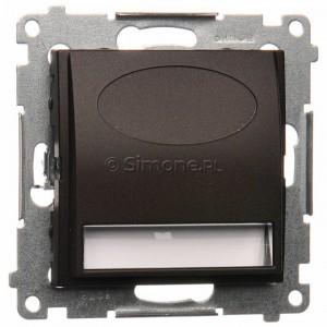 Simon 54 DOS14.01/46 - Oprawa oświetleniowa LED 14V (0,42W), Barwa światła: Biały ciepły 3100K. Wymagany zasilacz 14V. - Brąz Mat - Podgląd zdjęcia nr 1
